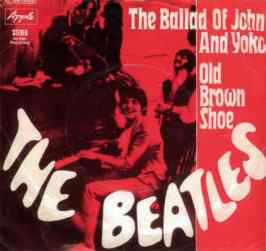 The Ballad Of John And Yoko single artwork - Germany