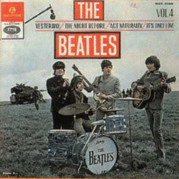 The Beatles Vol 4 EP artwork - Israel