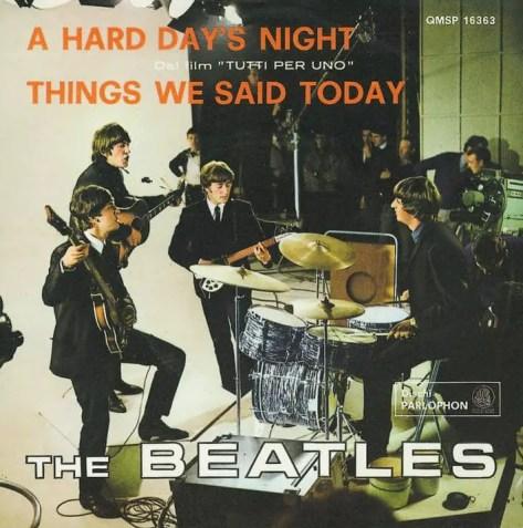 A Hard Day's Night single artwork - Italy