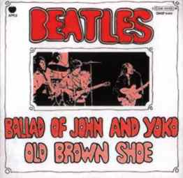 The Ballad Of John And Yoko single artwork - Italy