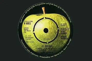 Label of John Lennon's #9 Dream single