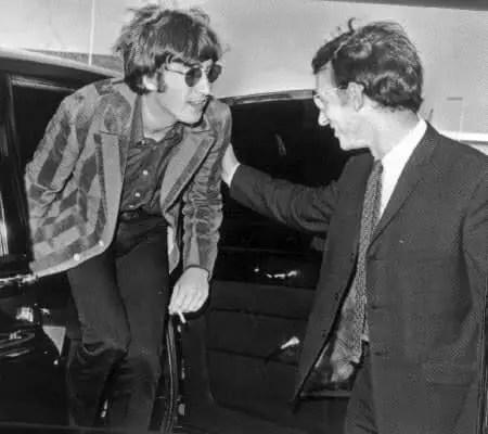 John Lennon and Alistair Taylor, 1966
