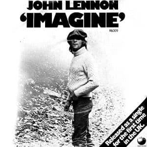 Imagine single artwork (UK) - John Lennon