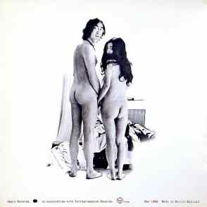 Rear cover of Unfinished Music No 1: Two Virgins by John Lennon and Yoko Ono