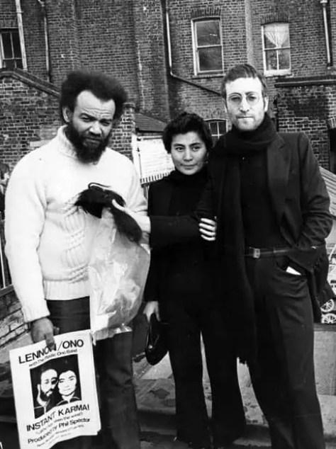 John Lennon, Yoko Ono and Michael X, 4 February 1970