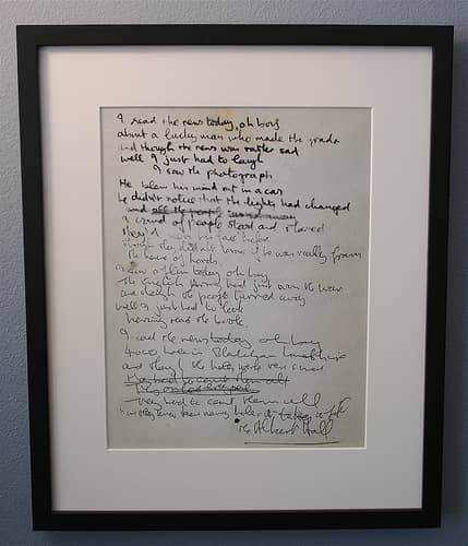 Gallery Of Beatles Lyrics The Beatles Bible