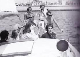 Paul McCartney and others sailing to Santa Catalina Island, California, 24 June 1968