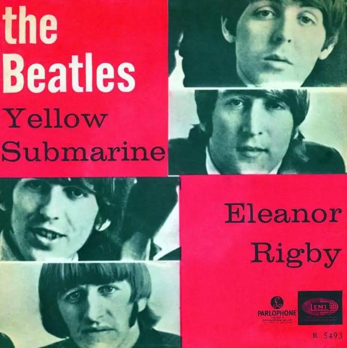 Yellow Submarine/Eleanor Rigby single artwork - Norway