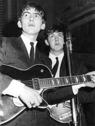 Paul McCartney and George Harrison, 1962