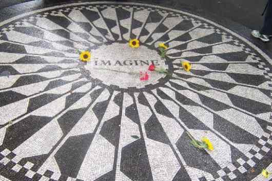 Strawberry Fields in Central Park, New York City