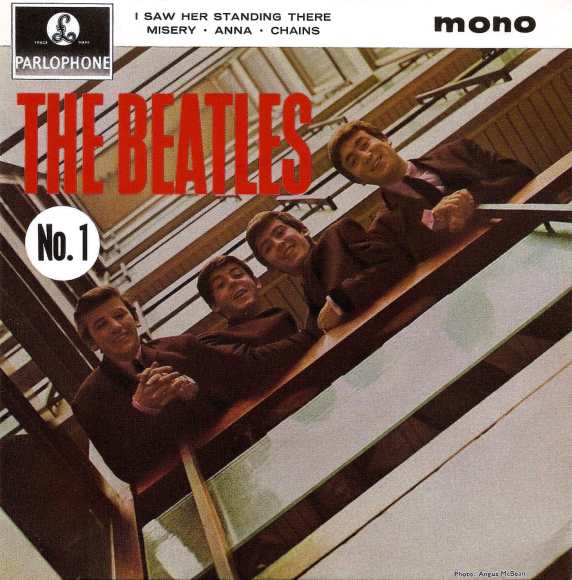 Beatles No. 1 EP artwork - United Kingdom