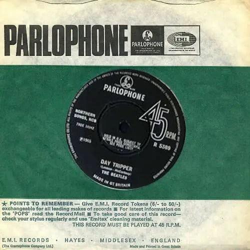 Day Tripper single – United Kingdom