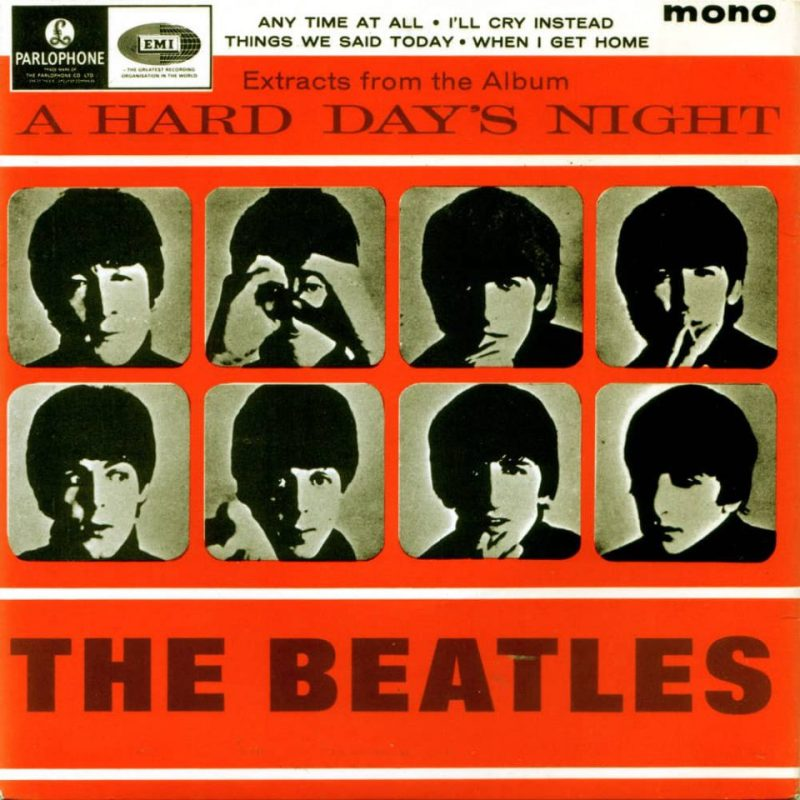 Extracts From The Album A Hard Day's Night EP artwork – United Kingdom