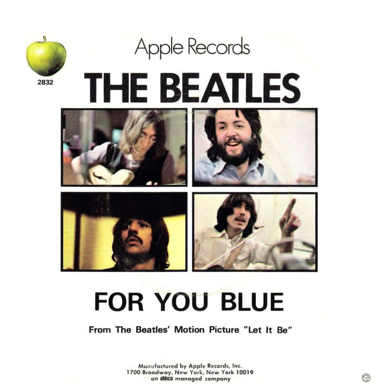 For You Blue –USA b-side, 1970