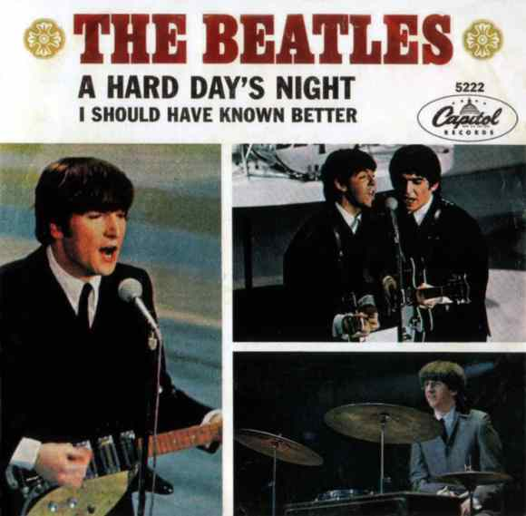 A Hard Day's Night single artwork - USA