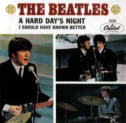 A Hard Day's Night single artwork - USA