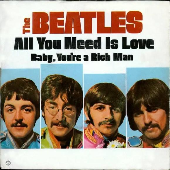 All You Need Is Love single artwork - USA