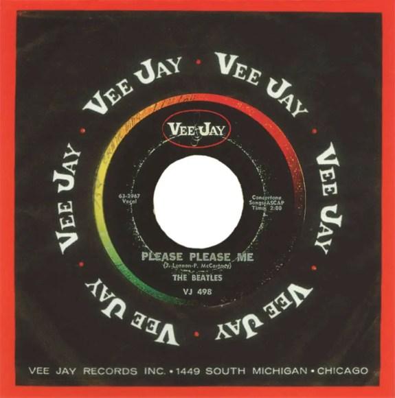 Please Please Me single artwork (Vee Jay) - USA