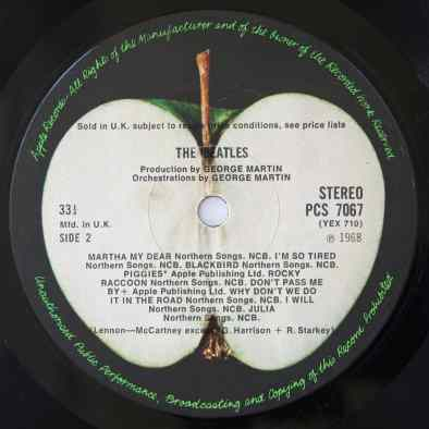 The Beatles (White Album) label, side 2