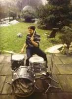 Paul-playing-on-Ringos-drumkit-in-the-garden-St.-Johns-Wood-near-Abbey-Road-studios-1969..jpg