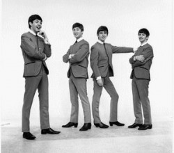 The Beatles standing / posing