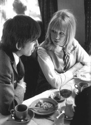 George Harrison and Pattie Boyd on A Hard Day's Night set