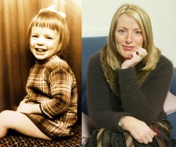 Lucy O'Donnell Vodden as a child and as an adult