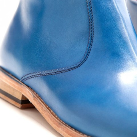 Handmade in Spain in royal blue calf leather