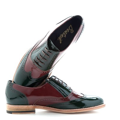 brogue bicolor for women lena green on red