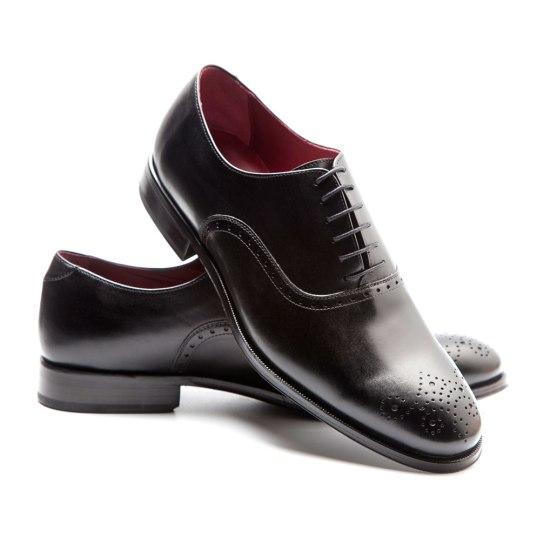 Kaufman Semi brogue negro por Beatnik Shoes