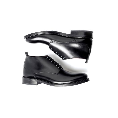 Black leather lace up boots for men Dylan Handmade in Spain by Beatnik Shoes