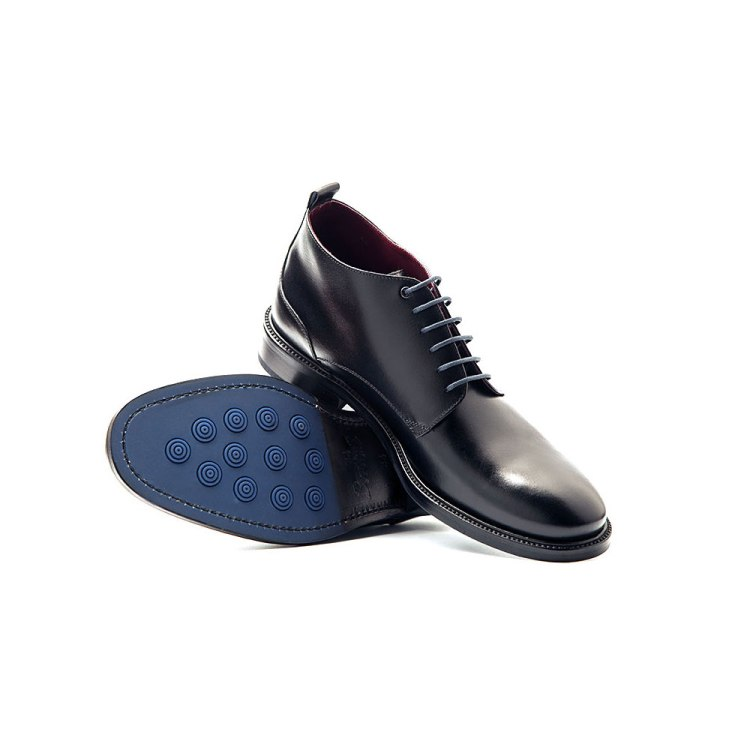 Black leather ankle boots for men Dylan Handmade in Spain by Beatnik Shoes