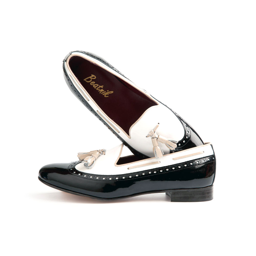 Ballerina black & white by Beatnik Shoes