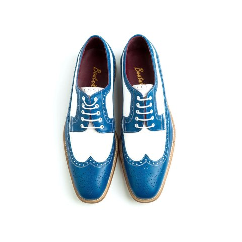 Two tone Oxford style shoes for men Lucien Handmade in Spain by Beatnik Shoes