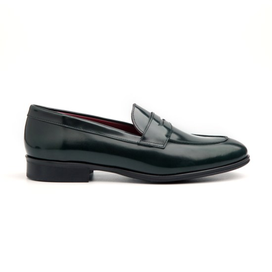 Green Leather Loafer Irma