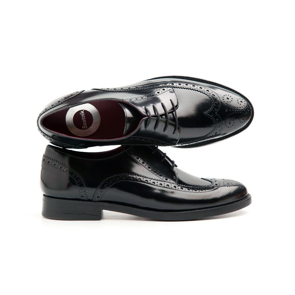 Ethel All Black female Derby Shoes