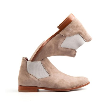 Chelsea nude suede by Beatnik Shoes