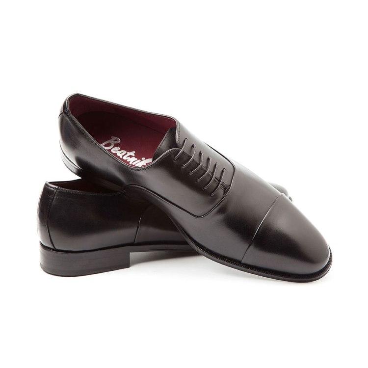 Miller zapatos de estilo Oxford en negro para hombre por Beatnik Shoes