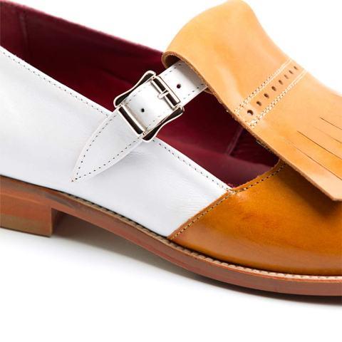 Zapato de hebillas bicolor de mujer Brenda por Beatnik Shoes