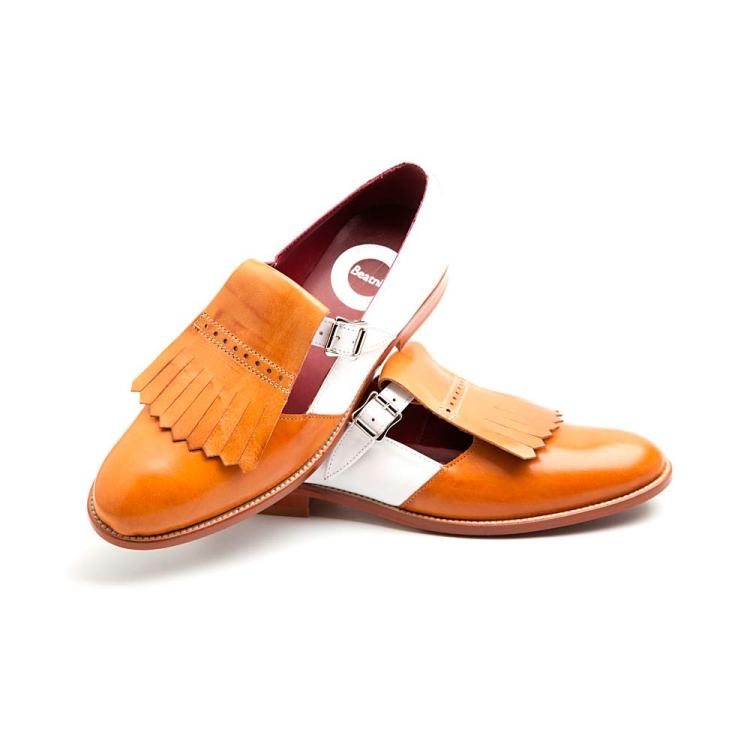 Two tone buckle shoes for women Brenda by Beatnik Shoes