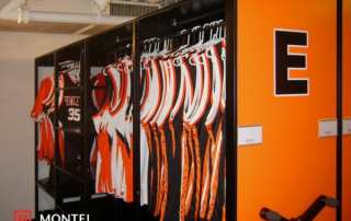 Princeton University athletic mobile shelving