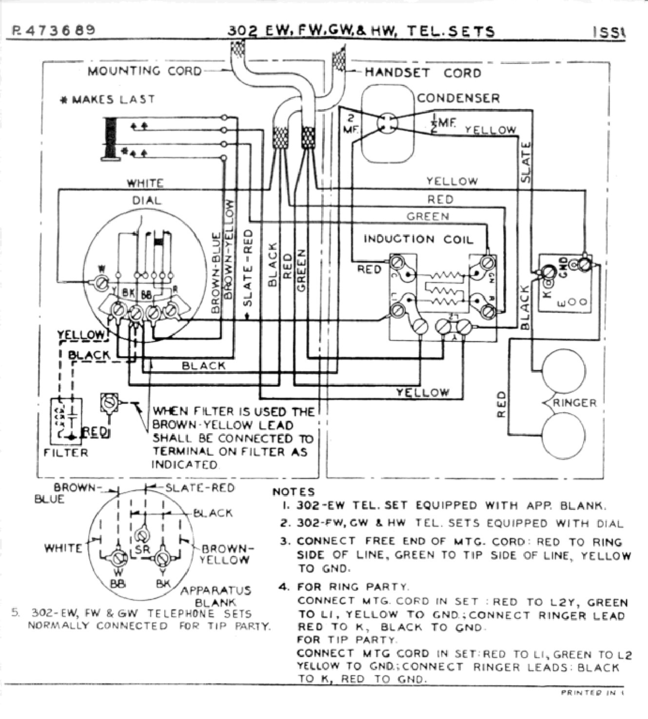 Western Electric 500 Schematic