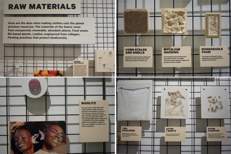 Various new Raw Materials were on display at Fashion for Good Museum in Amsterdam. Rethinking the possibilities of the fashion industry of the future.