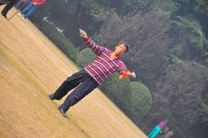 © Beatrice Otto Shanghai Fuxing Park man with kite