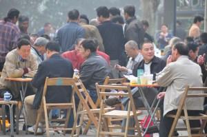 Tea in Fuxing Park Shanghai