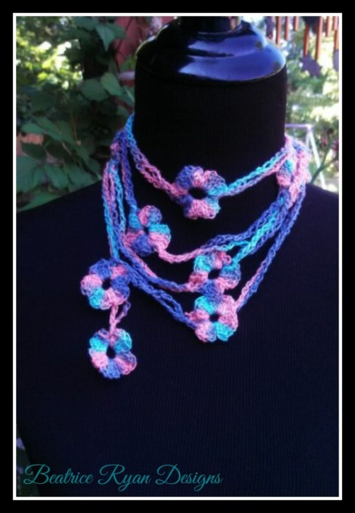 Chains and Flower Scarf