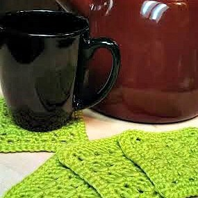 Amazing Grace Summer Crochet Coaster Set