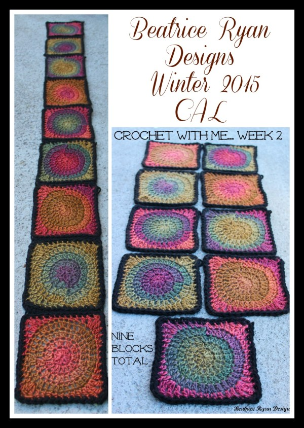 Crochet with me week 2 collage Unforgettable