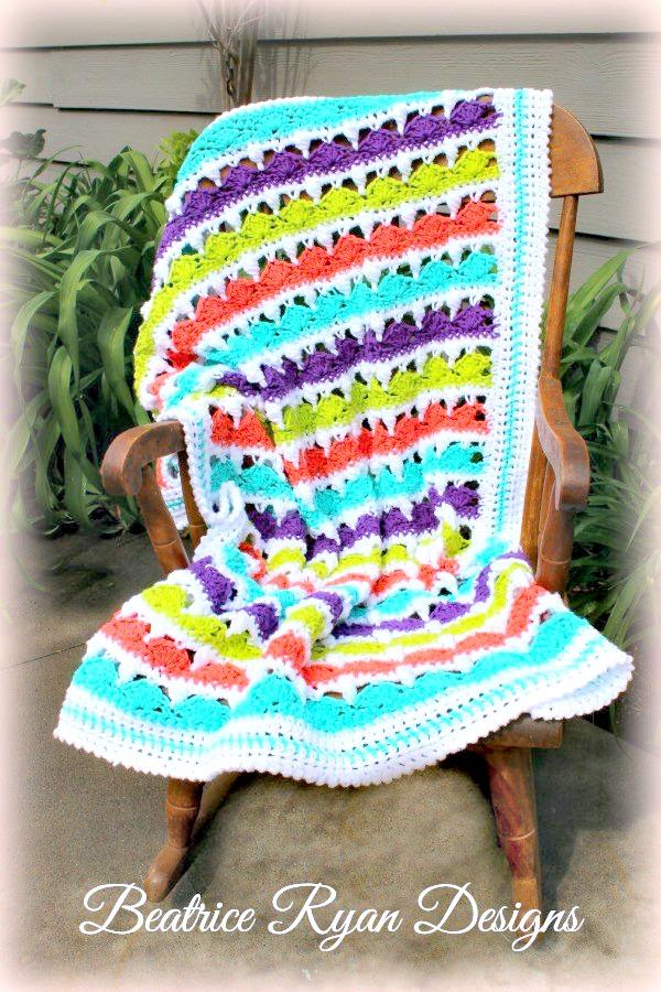 Crochet Pattern For Summer Baby Blanket : Summer Day s Baby Blanket