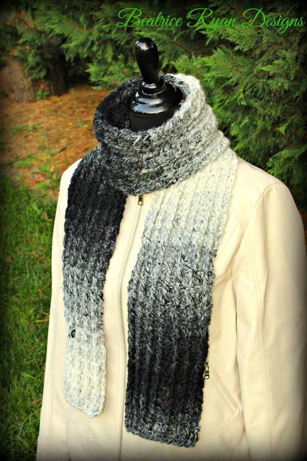 Ombre Ridges Scarf… New Free Crochet Pattern!!